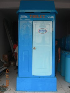FLEXIBLE TOILET, PORTABLE TOILET, WC SEMENTARA, WC OUTDOOR, WC PROYEK, CLOSET JONGKOK, KAKUS KNOCK DOWN