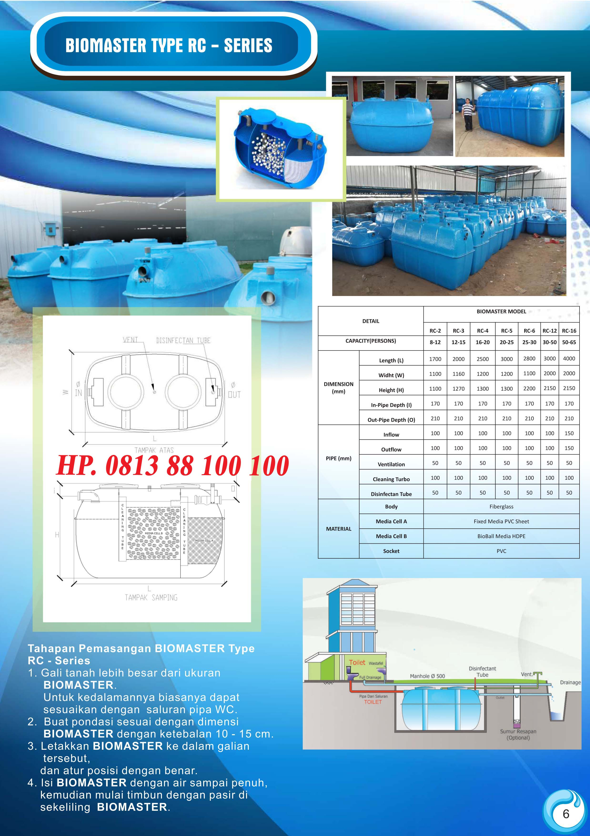 stp biomaster, septic tank, bcr series, bcx, biohome, bio primatech, alam hijau lestari